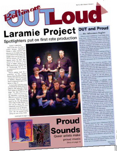 Baltimore OUTloud inaugural issue