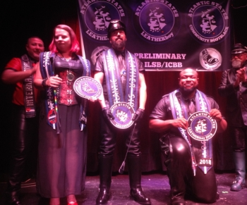 Winners circle at Atlantic States Leather weekend