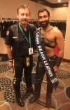 Mr. Long Beach Leather 2016 Ali Mushtaq (r) and his biggest fan
