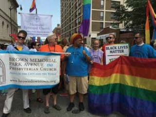 Brown Memorial Park Avenue church goes all out at Pride