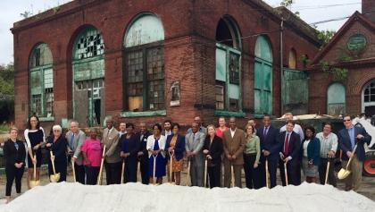 Baltimore Food Hub, breaking ground