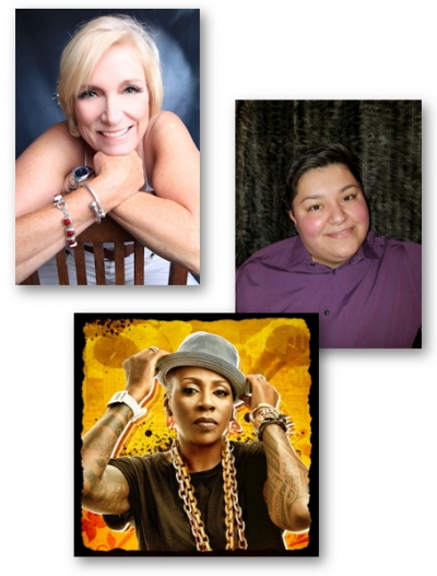 Poppy Champlin, Crist Guzman, and Gina Yashere are Queens for the day!