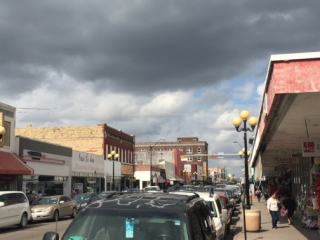 Clouds gather over Brownsville, downtown